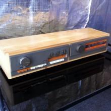 Huon pine case for Quad tuner and pre-amp