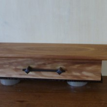 Wall hung shelf and drawer by Kirsten