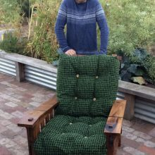 Reading chair in blackwood by James