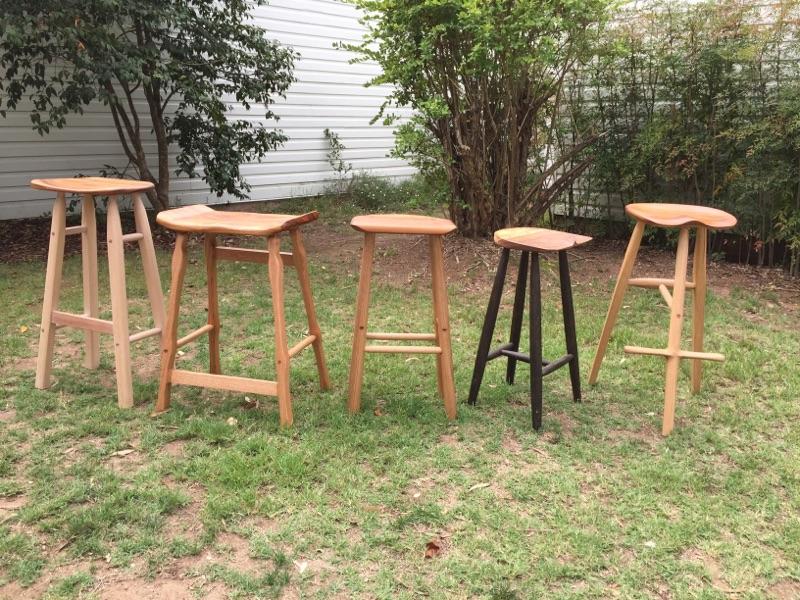timber stools made at sturt