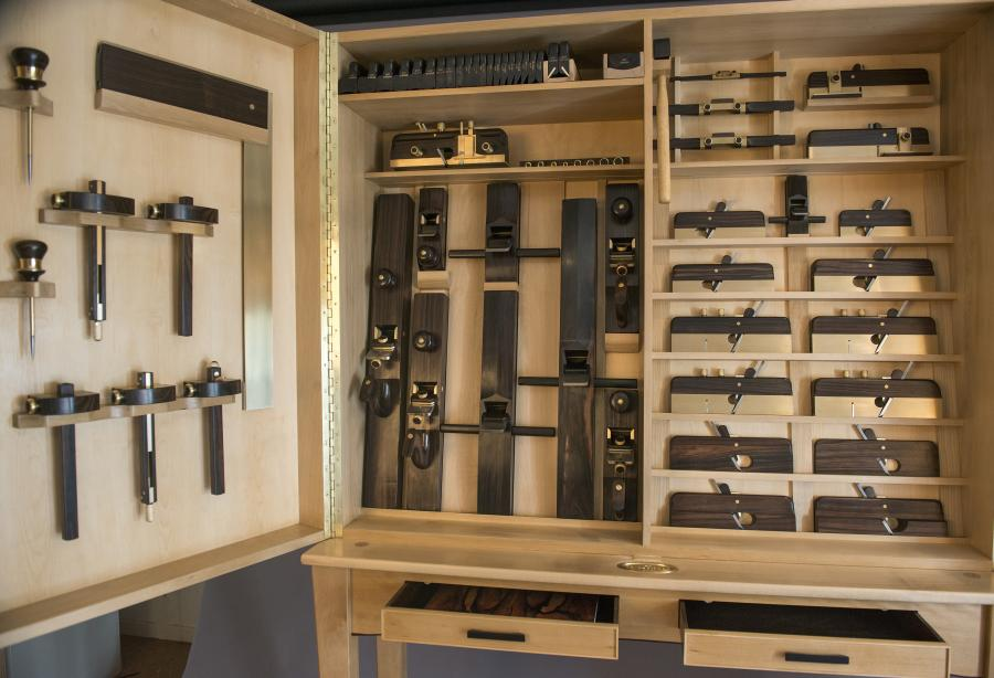 Collaboration One Set Of 74 Handmade Tools And Cabinet
