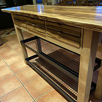 solid timber kitchen island bench