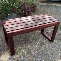 outdoor jarrah bench