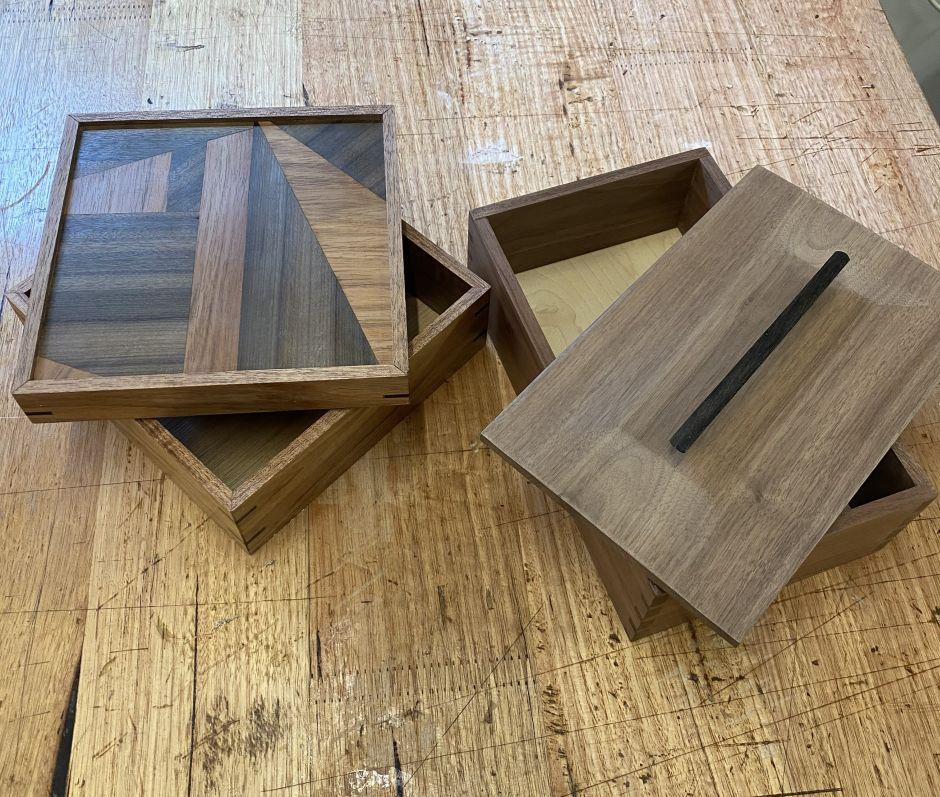 walnut box by evie